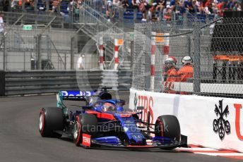 World © Octane Photographic Ltd. Formula 1 – Monaco GP. Qualifying. Scuderia Toro Rosso STR14 – Daniil Kvyat. Monte-Carlo, Monaco. Saturday 25th May 2019.