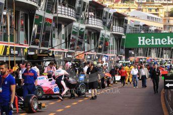 World © Octane Photographic Ltd. FIA Formula 2 (F2) – Monaco GP - Practice. The teams in the pitlane. Monte-Carlo, Monaco. Thursday 23rd May 2019.
