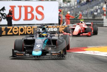 World © Octane Photographic Ltd. FIA Formula 2 (F2) – Monaco GP - Race 1. DAMS - Sergio Sette Camara and Prema Racing - Sean Gelael. Monte-Carlo, Monaco. Friday 24th May 2019.