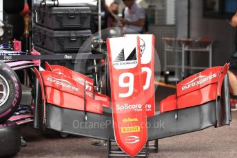 World © Octane Photographic Ltd. FIA Formula 2 (F2) – Monaco GP - Race 1. Prema Racing – Mick Schumacher's damaged nose cone. Monte-Carlo, Monaco. Friday 24th May 2019.
