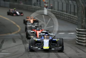 World © Octane Photographic Ltd. FIA Formula 2 (F2) – Monaco GP - Race 1. Carlin - Louis Deletraz. Monte-Carlo, Monaco. Friday 24th May 2019