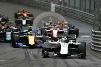 World © Octane Photographic Ltd. FIA Formula 2 (F2) – Monaco GP - Race 1. ART Grand Prix - Nyck de Vries and Virtuosi Racing - Luca Ghiotto. Monte-Carlo, Monaco. Friday 24th May 2019.
