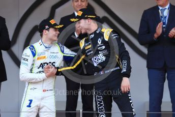 World © Octane Photographic Ltd. FIA Formula 2 (F2) – Monaco GP - Race 2. BWT Arden - Anthoine Hubert, Carlin - Louis Deletraz. Monte-Carlo, Monaco. Saturday 25th May 2019.