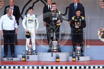 World © Octane Photographic Ltd. FIA Formula 2 (F2) – Monaco GP - Race 2. BWT Arden - Anthoine Hubert, Carlin - Louis Deletraz and Virtuosi Racing - Guanyu Zhou. Monte-Carlo, Monaco. Saturday 25th May 2019.