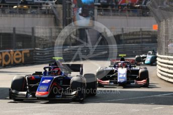 World © Octane Photographic Ltd. FIA Formula 2 (F2) – Monaco GP - Race 2. Carlin - Nobuharu Matsushita and Trident - Ralph Boschung. Monte-Carlo, Monaco. Saturday 25th May 2019.