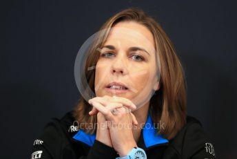 World © Octane Photographic Ltd. Formula 1 - Monaco GP. Thursday FIA Team Press Conference. Claire Williams - Deputy Team Principal of ROKiT Williams Racing. Monte-Carlo, Monaco. Thursday 23rd May 2019.