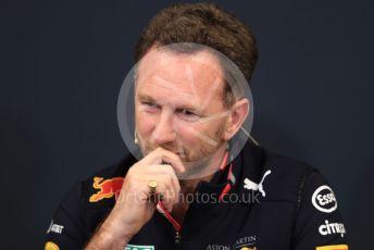 World © Octane Photographic Ltd. Formula 1 - Monaco GP. Thursday FIA Team Press Conference. Christian Horner - Team Principal of Red Bull Racing. Monte-Carlo, Monaco. Thursday 23rd May 2019.