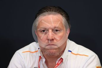 World © Octane Photographic Ltd. Formula 1 - Monaco GP. Thursday FIA Team Press Conference. Zak Brown - Executive Director of McLaren Technology Group.  Monte-Carlo, Monaco. Thursday 23rd May 2019.