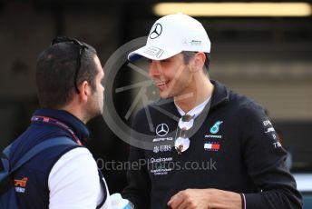 World © Octane Photographic Ltd. Formula 1 – Monaco GP. Paddock. Mercedes AMG Petronas Motorsport AMG F1 W10 EQ Power+ reserve driver - Esteban Ocon. Monte-Carlo, Monaco. Sunday 26th May 2019.