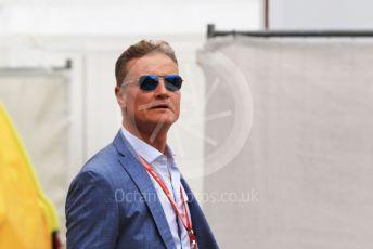 World © Octane Photographic Ltd. Formula 1 – Monaco GP. Paddock. David Coulthard. Monte-Carlo, Monaco. Sunday 26th May 2019.