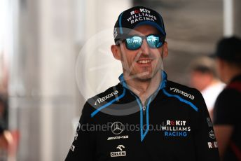 World © Octane Photographic Ltd. Formula 1 – Monaco GP. Paddock. ROKiT Williams Racing FW42 – Robert Kubica. Monte-Carlo, Monaco. Thursday 23rd May 2019.