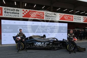 World © Octane Photographic Ltd. Formula 1 – Winter Testing - Test 1 - Day 1. Rich Energy Haas F1 Team VF19 launch – Romain Grosjean and Kevin Magnussen. Circuit de Barcelona-Catalunya. Monday 18th February 2019.