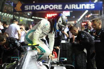 World © Octane Photographic Ltd. Formula 1 – Singapore GP - Grid. Mercedes AMG Petronas Motorsport AMG F1 W10 EQ Power+ - Valtteri Bottas. Marina Bay Street Circuit, Singapore. Sunday 22nd September 2019.