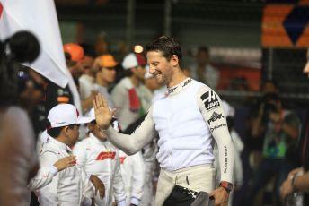 World © Octane Photographic Ltd. Formula 1 – Singapore GP - Grid. Haas F1 Team VF19 – Romain Grosjean. Marina Bay Street Circuit, Singapore. Sunday 22nd September 2019.