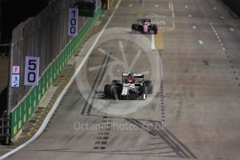 World © Octane Photographic Ltd. Formula 1 – Singapore GP - Practice 2. Alfa Romeo Racing C38 – Antonio Giovinazzi. Marina Bay Street Circuit, Singapore. Friday 20th September 2019.