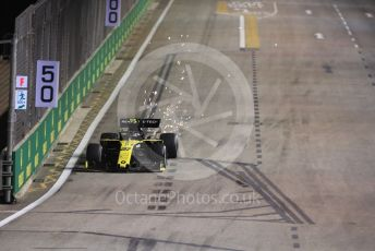 World © Octane Photographic Ltd. Formula 1 – Singapore GP - Practice 2. Renault Sport F1 Team RS19 – Nico Hulkenberg. Marina Bay Street Circuit, Singapore. Friday 20th September 2019.