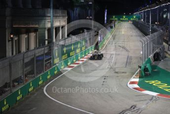 World © Octane Photographic Ltd. Formula 1 – Singapore GP - Practice 2. Haas F1 Team VF19 – Kevin Magnussen. Marina Bay Street Circuit, Singapore. Friday 20th September 2019.