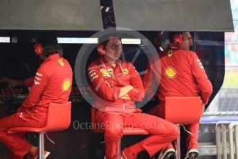 World © Octane Photographic Ltd. Formula 1 - Singapore GP - Practice 3. Mattia Binotto – Team Principal of Scuderia Ferrari. Marina Bay Street Circuit, Singapore. Saturday 21st September 2019.
