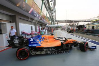 World © Octane Photographic Ltd. Formula 1 – Singapore GP - Practice 3. McLaren MCL34 – Carlos Sainz. Marina Bay Street Circuit, Singapore. Saturday 21st September 2019.