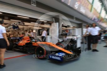 World © Octane Photographic Ltd. Formula 1 – Singapore GP - Practice 3. McLaren MCL34 – Lando Norris. Marina Bay Street Circuit, Singapore. Saturday 21st September 2019.