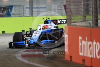 World © Octane Photographic Ltd. Formula 1 – Singapore GP - Qualifying. ROKiT Williams Racing FW42 – Robert Kubica. Marina Bay Street Circuit, Singapore. Saturday 21st September 2019.