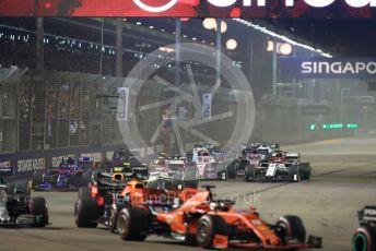 World © Octane Photographic Ltd. Formula 1 – Singapore GP - Race. Alfa Romeo Racing C38 – Kimi Raikkonen. Marina Bay Street Circuit, Singapore. Sunday 22nd September 2019.