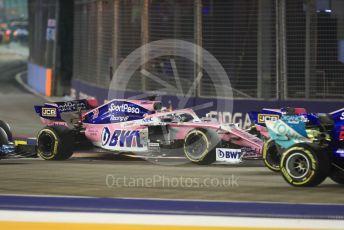 World © Octane Photographic Ltd. Formula 1 – Singapore GP - Race. SportPesa Racing Point RP19 - Sergio Perez. Marina Bay Street Circuit, Singapore. Sunday 22nd September 2019.
