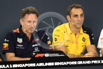 World © Octane Photographic Ltd. Formula 1 - Singapore GP – Friday FIA Team Press Conference. Christian Horner - Team Principal of Red Bull Racing. Marina Bay Street Circuit, Singapore. Friday 20th September 2019.