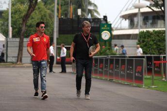 World © Octane Photographic Ltd. Formula 1 – Singapore GP - Paddock. Scuderia Ferrari SF90 – Charles Leclerc. Marina Bay Street Circuit, Singapore. Friday 20th September 2019.