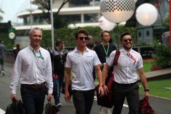 World © Octane Photographic Ltd. Formula 1 – Singapore GP - Paddock. McLaren MCL34 – Lando Norris. Marina Bay Street Circuit, Singapore. Friday 20th September 2019.