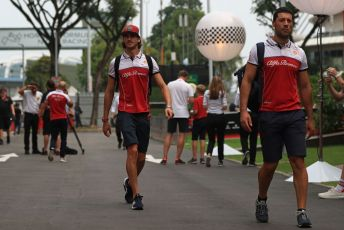 World © Octane Photographic Ltd. Formula 1 – Singapore GP - Paddock. Alfa Romeo Racing C38 – Antonio Giovinazzi. Marina Bay Street Circuit, Singapore. Friday 20th September 2019.