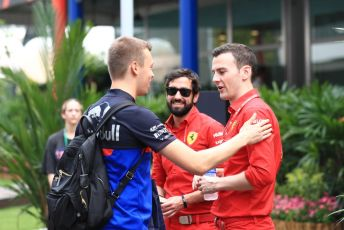 World © Octane Photographic Ltd. Formula 1 – Singapore GP - Paddock. Scuderia Toro Rosso STR14 – Daniil Kvyat. Marina Bay Street Circuit, Singapore. Friday 20th September 2019.