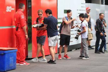 World © Octane Photographic Ltd. Formula 1 – Singapore GP - Paddock. Scuderia Ferrari SF90 – Sebastian Vettel. Marina Bay Street Circuit, Singapore. Friday 20th September 2019.