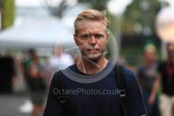 World © Octane Photographic Ltd. Formula 1 – Singapore GP - Paddock. Haas F1 Team VF19 – Kevin Magnussen. Marina Bay Street Circuit, Singapore. Thursday 19th September 2019.