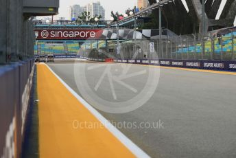 World © Octane Photographic Ltd. Formula 1 – Singapore GP - Paddock. View to turn 1. Marina Bay Street Circuit, Singapore. Thursday 19th September 2019.