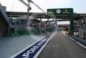 World © Octane Photographic Ltd. Formula 1 – Singapore GP - Paddock. Pit Lane Exit. Marina Bay Street Circuit, Singapore. Thursday 19th September 2019.