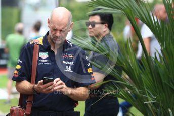 World © Octane Photographic Ltd. Formula 1 - Singapore GP - Paddock. Adrian Newey - Chief Technical Officer of Red Bull Racing. Marina Bay Street Circuit, Singapore. Saturday 21st September 2019.