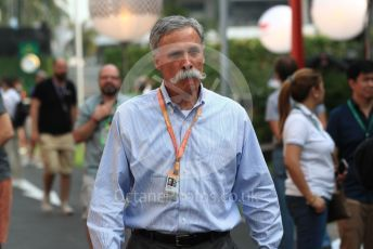 World © Octane Photographic Ltd. Formula 1 - Singapore GP - Paddock. Chase Carey - Chief Executive Officer of the Formula One Group. Marina Bay Street Circuit, Singapore. Saturday 21st September 2019.