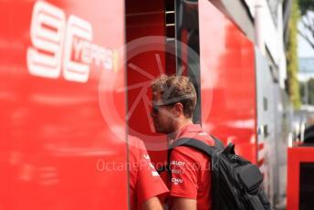 World © Octane Photographic Ltd. Formula 1 – Singapore GP - Paddock. Scuderia Ferrari SF90 – Sebastian Vettel. Marina Bay Street Circuit, Singapore. Sunday 22nd September 2019.