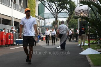 World © Octane Photographic Ltd. Formula 1 – Singapore GP - Paddock. McLaren MCL34 – Carlos Sainz. Marina Bay Street Circuit, Singapore. Sunday 22nd September 2019.