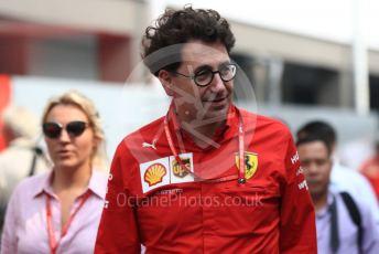 World © Octane Photographic Ltd. Formula 1 - Singapore GP - Paddock. Mattia Binotto – Team Principal of Scuderia Ferrari. Marina Bay Street Circuit, Singapore. Sunday 22nd September 2019.