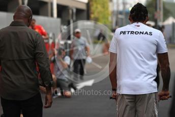 World © Octane Photographic Ltd. Formula 1 – Singapore GP - Paddock. Mercedes AMG Petronas Motorsport AMG F1 W10 EQ Power+ - Lewis Hamilton. Marina Bay Street Circuit, Singapore. Sunday 22nd September 2019.