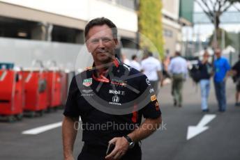 World © Octane Photographic Ltd. Formula 1 - Singapore GP - Paddock. Christian Horner - Team Principal of Red Bull Racing. Marina Bay Street Circuit, Singapore. Sunday 22nd September 2019.