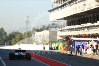 World © Octane Photographic Ltd. Formula 1 – Spanish In-season testing. Mercedes AMG Petronas Motorsport AMG F1 W10 EQ Power+ - Valtteri Bottas hit cones which get stuck in the air flow sensors. Circuit de Barcelona Catalunya, Spain. Tuesday 14th May 2019.
