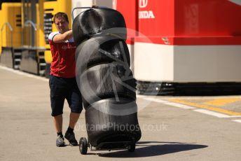 World © Octane Photographic Ltd. Formula 1 – Spanish In-season testing. Alfa Romeo Racing tyres. Circuit de Barcelona Catalunya, Spain. Wednesday 15th May 2019.