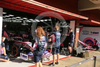 World © Octane Photographic Ltd. Formula 1 – Spanish In-season testing. SportPesa Racing Point RP19 - Lance Stroll and Nick Yelloly. Circuit de Barcelona Catalunya, Spain. Wednesday 15th May 2019.