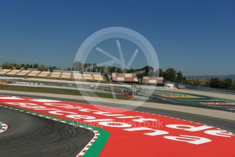 World © Octane Photographic Ltd. Formula 1 – Spanish Pirelli In-season testing. Circuit de Barcelona writing on the circuit. Circuit de Barcelona Catalunya, Spain. Wednesday 15th May 2019.