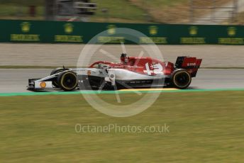 World © Octane Photographic Ltd. Formula 1 – Spanish GP. Practice 2. Alfa Romeo Racing C38 – Kimi Raikkonen. Circuit de Barcelona Catalunya, Spain. Friday 10th May 2019.