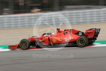 World © Octane Photographic Ltd. Formula 1 – Spanish GP. Practice 2. Scuderia Ferrari SF90 – Sebastian Vettel. Circuit de Barcelona Catalunya, Spain. Friday 10th May 2019.