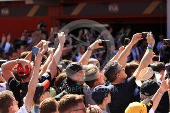 World © Octane Photographic Ltd. Formula 1 – Spanish GP. Parc Ferme sea of mobile phones.... Circuit de Barcelona Catalunya, Spain. Sunday 12th May 2019.